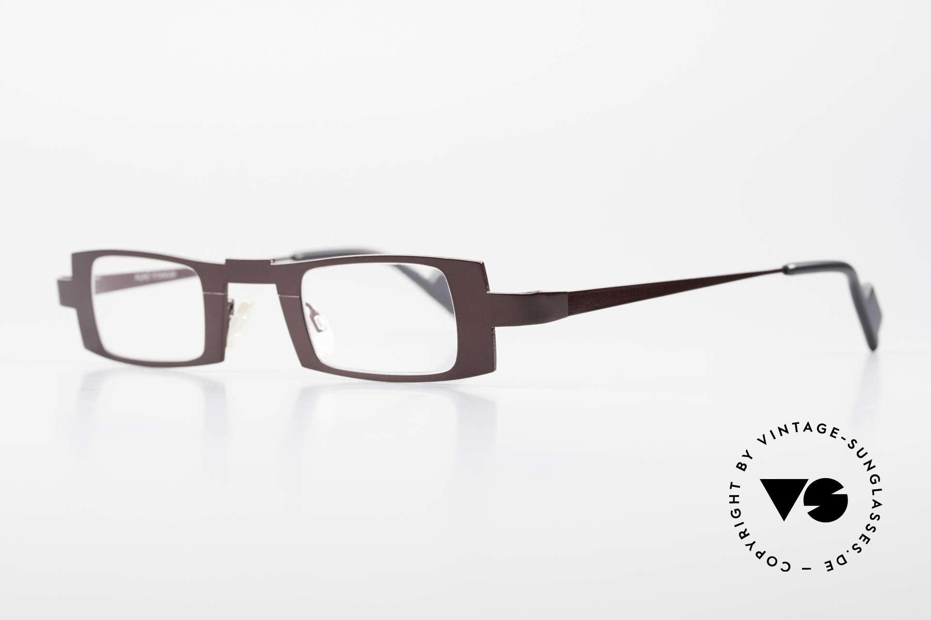 Theo Belgium Michael Eckige Titanium Brille Weinrot, leicht und sehr komfortabel; absolute Spitzen-Qualität, Passend für Herren und Damen