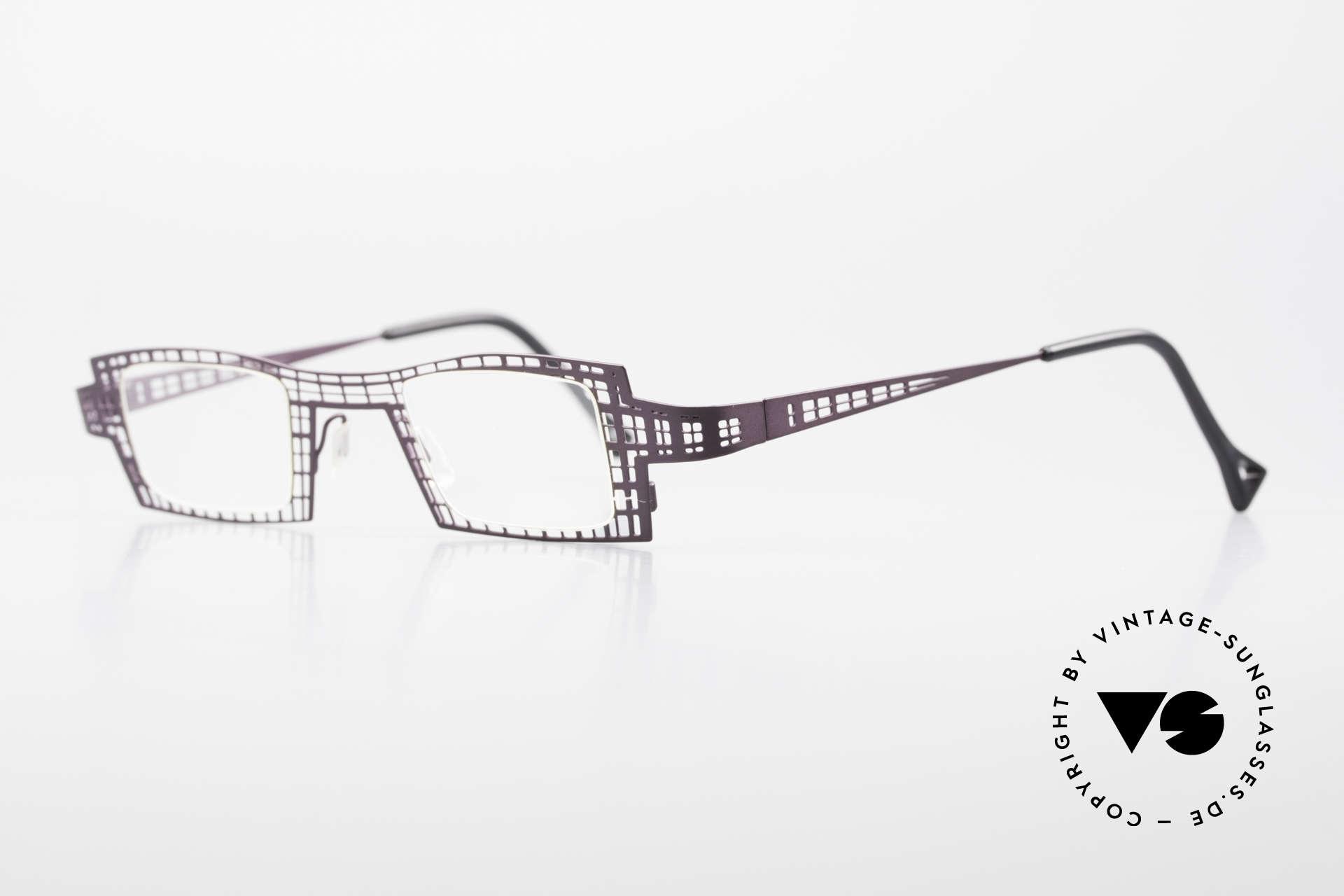 """Theo Belgium Eye-Witness LH Damenbrille Vintage Designer, einzigartige Lackierung in einer Art """"violett / braun"""", Passend für Damen"""