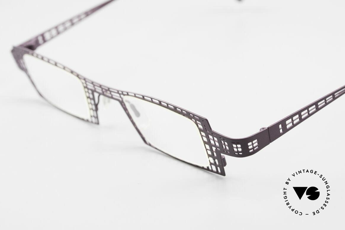 """Theo Belgium Eye-Witness LH Damenbrille Vintage Designer, Eye-Witness von 1995: """"unvollendet"""" & asymmetrisch, Passend für Damen"""