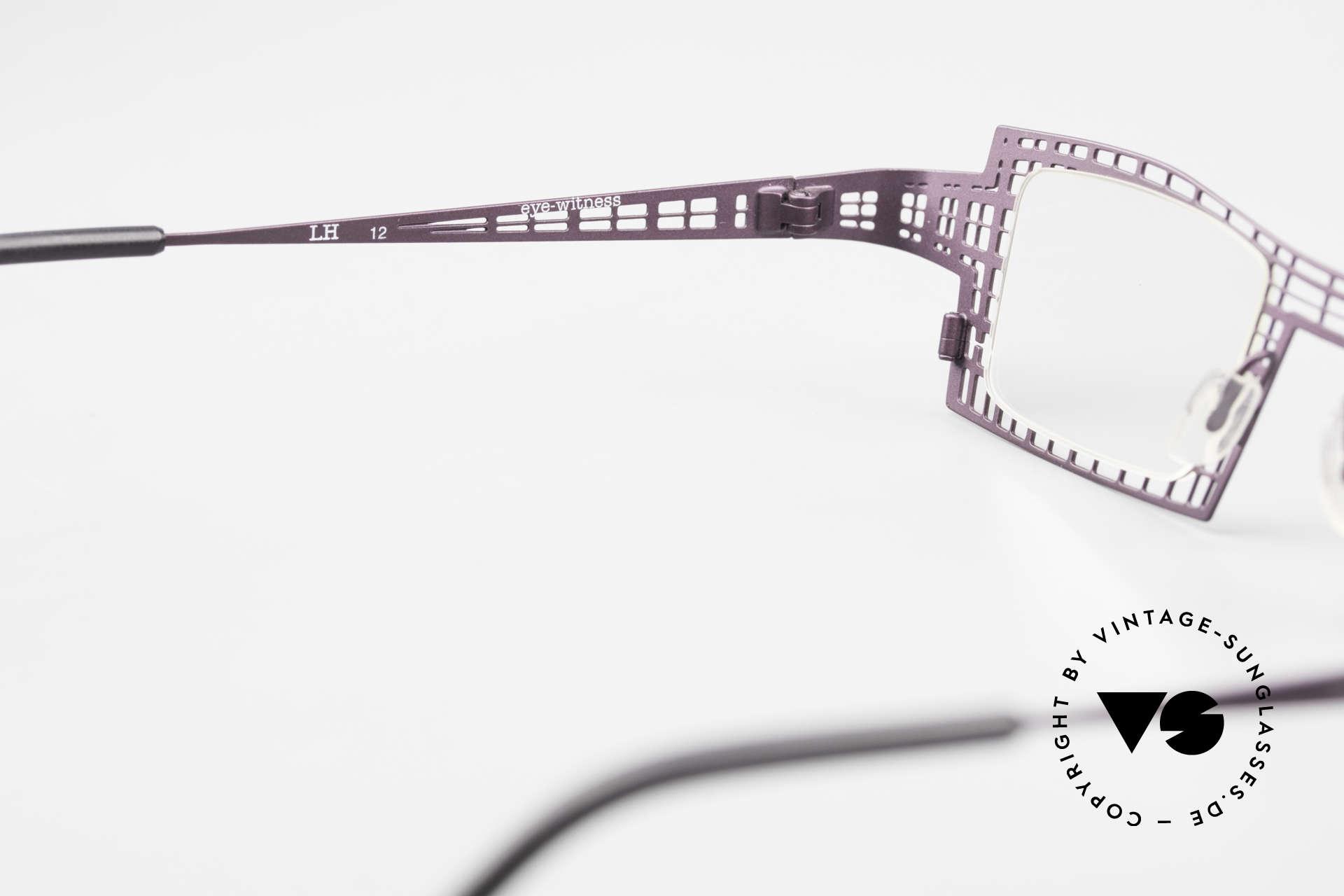 Theo Belgium Eye-Witness LH Damenbrille Vintage Designer, Größe: large, Passend für Damen