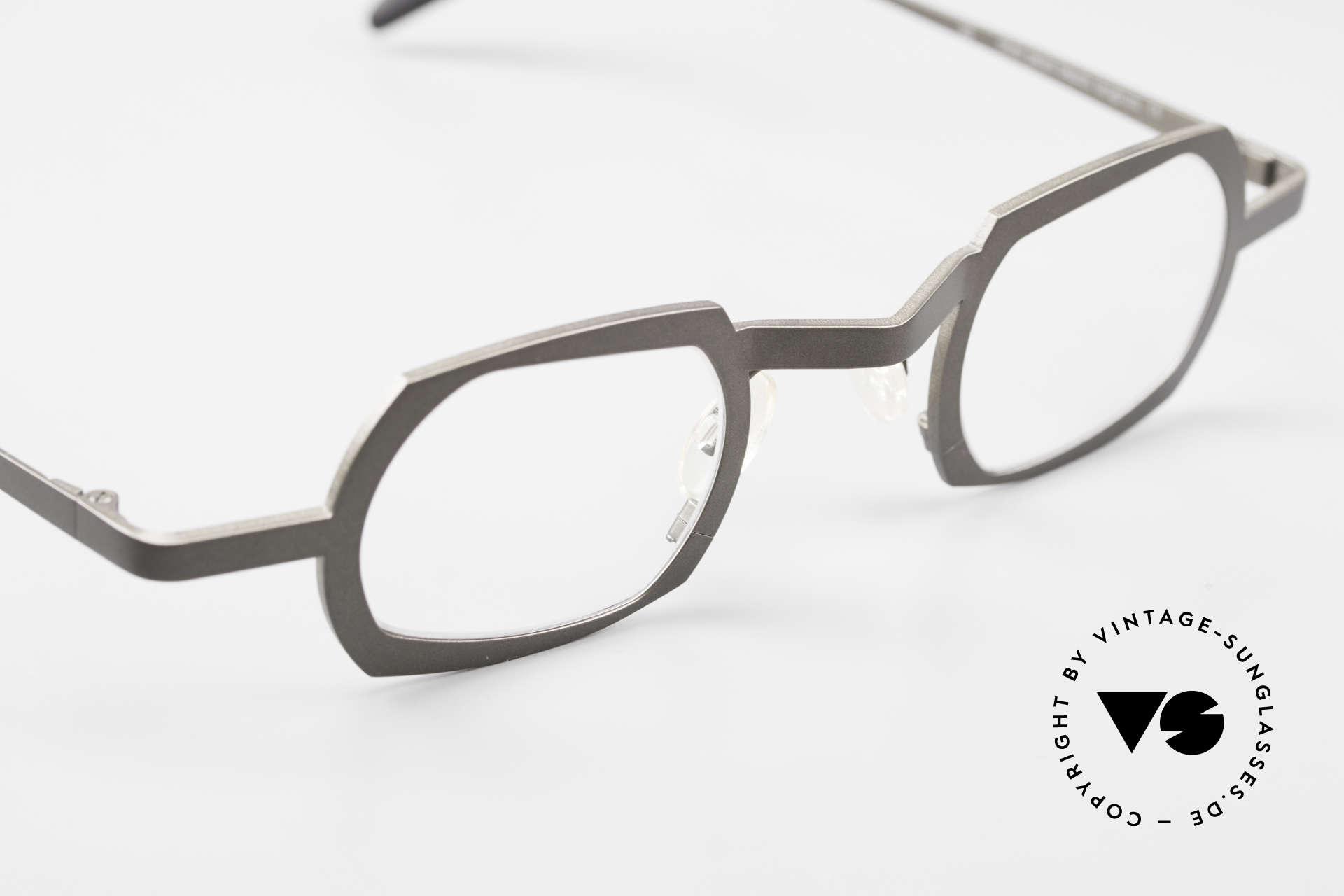Theo Belgium Palm Beach Damen & Herren Titaniumbrille, die Demogläser sollten durch optische ersetzt werden, Passend für Herren und Damen