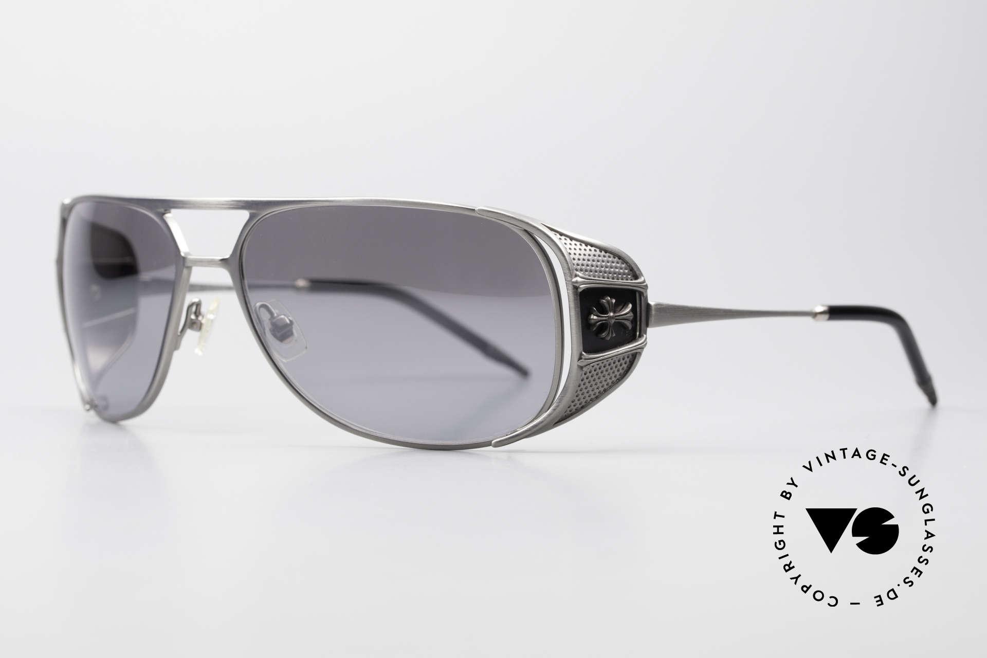 Chrome Hearts Jones Luxus Sonnenbrille Für Kenner, herausragende Handwerkskunst (made in Japan), Passend für Herren