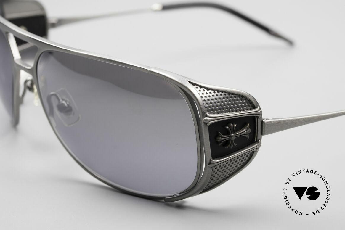 Chrome Hearts Jones Luxus Sonnenbrille Für Kenner, Federscharniere & mit 925 Sterling Silber Dekor, Passend für Herren