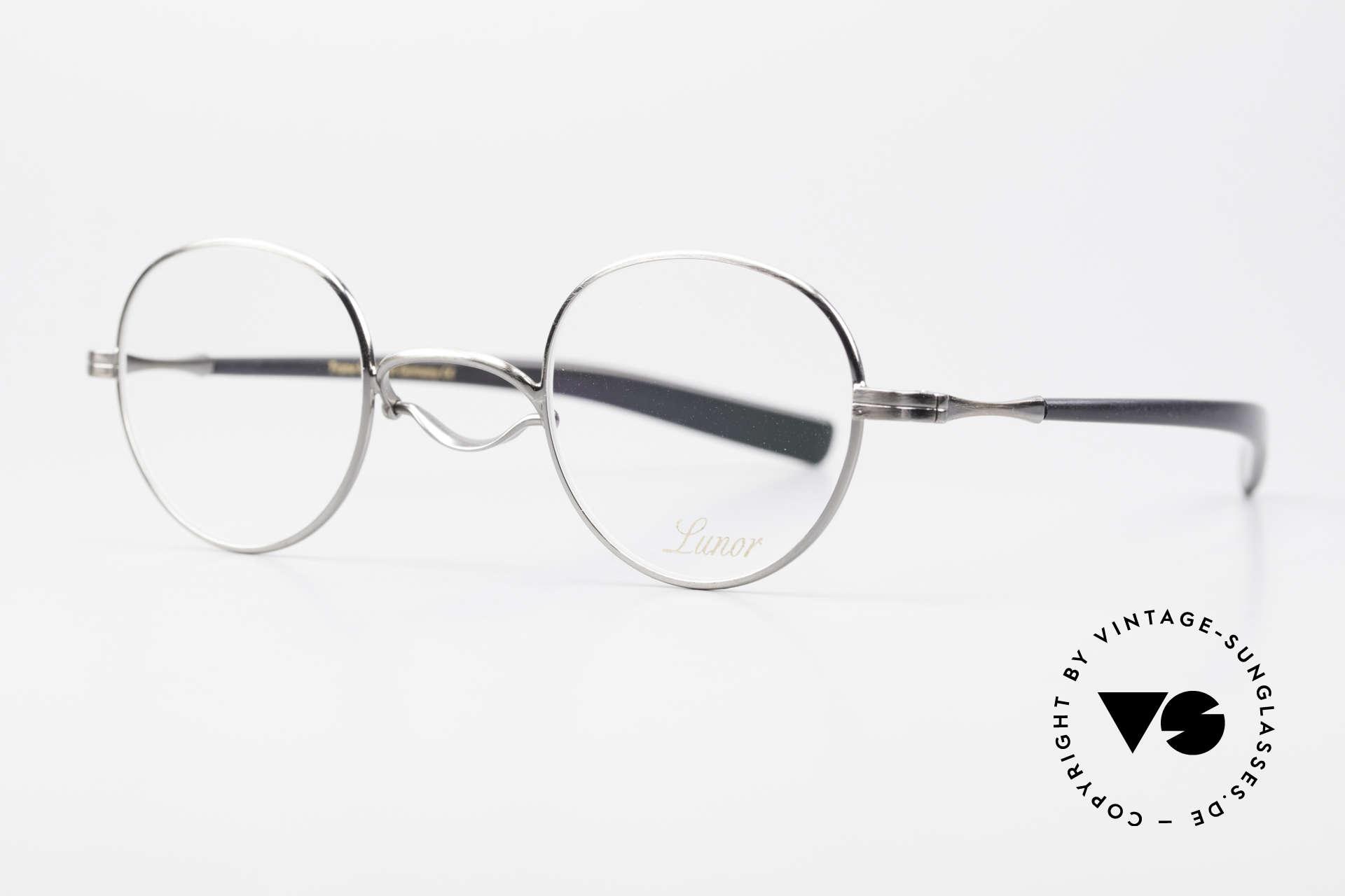 Lunor Swing A 32 Panto Rare Vintage Lunor Brille AS, Schwenksteg: Hommage an die Brillen von ca. 1900, Passend für Herren und Damen