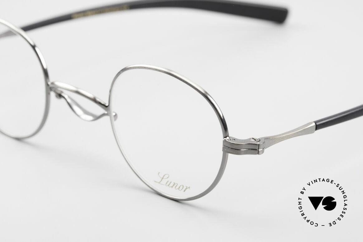Lunor Swing A 32 Panto Rare Vintage Lunor Brille AS, handgefertigt in Deutschland und mit Acetatbügeln, Passend für Herren und Damen