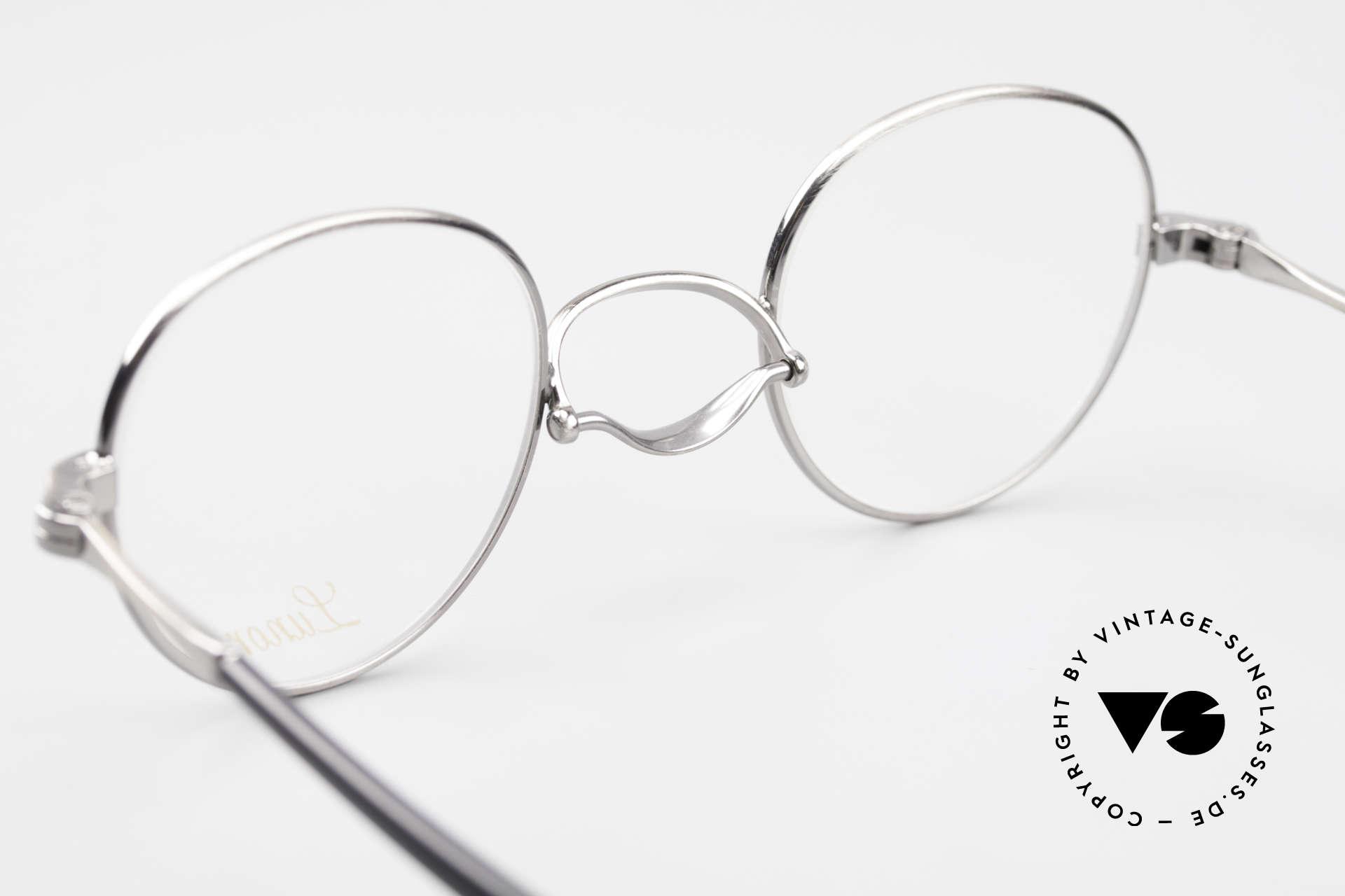 Lunor Swing A 32 Panto Rare Vintage Lunor Brille AS, die orig. Demogläser können beliebig ersetzt werden, Passend für Herren und Damen