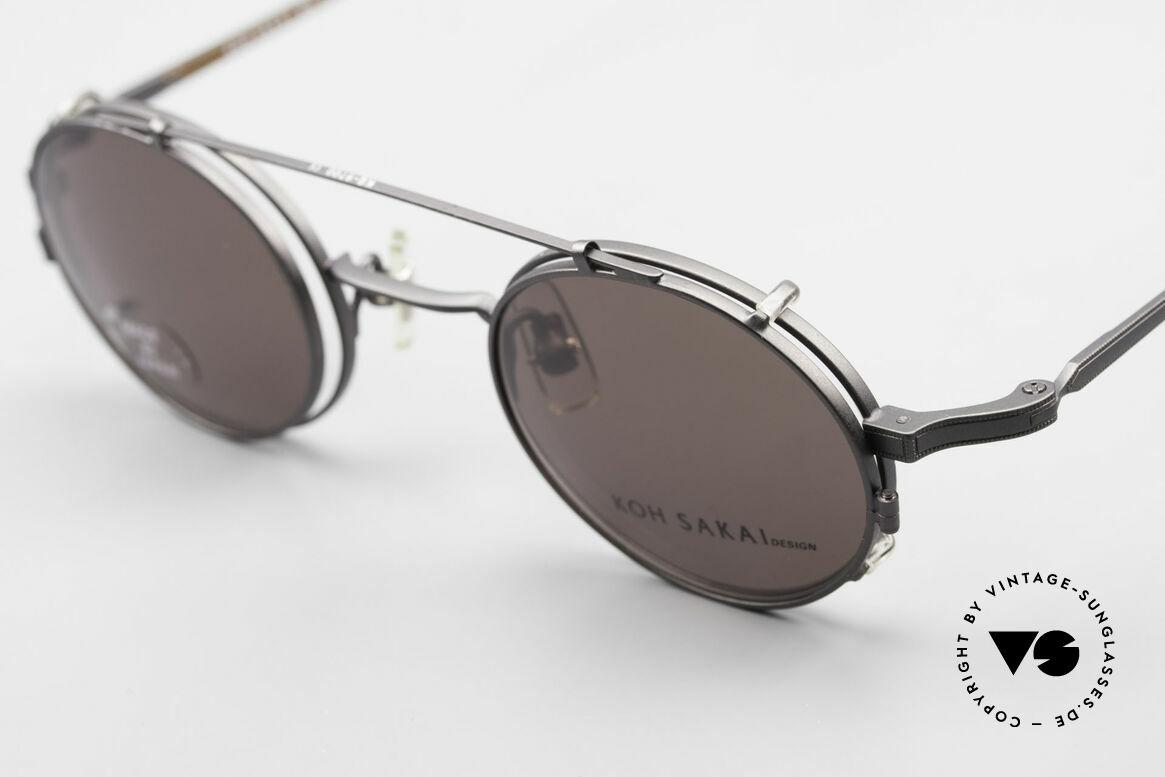 Koh Sakai KS9700 Runde Brille mit Sonnen-Clip, aus dem gleichen Werk wie Oliver Peoples und Eyevan, Passend für Herren und Damen