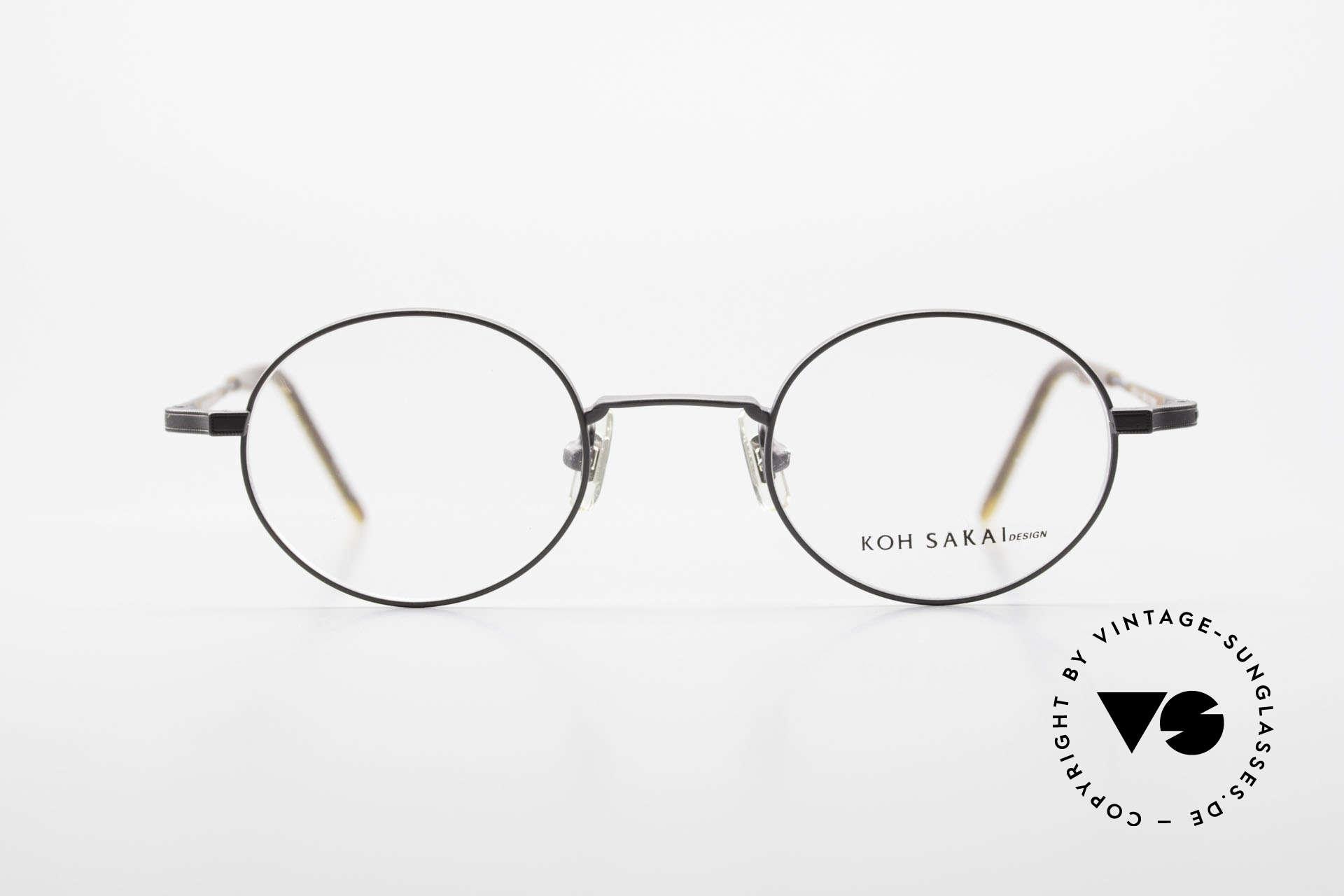 Koh Sakai KS9700 Runde Brille mit Sonnen-Clip, Größe: small, Passend für Herren und Damen