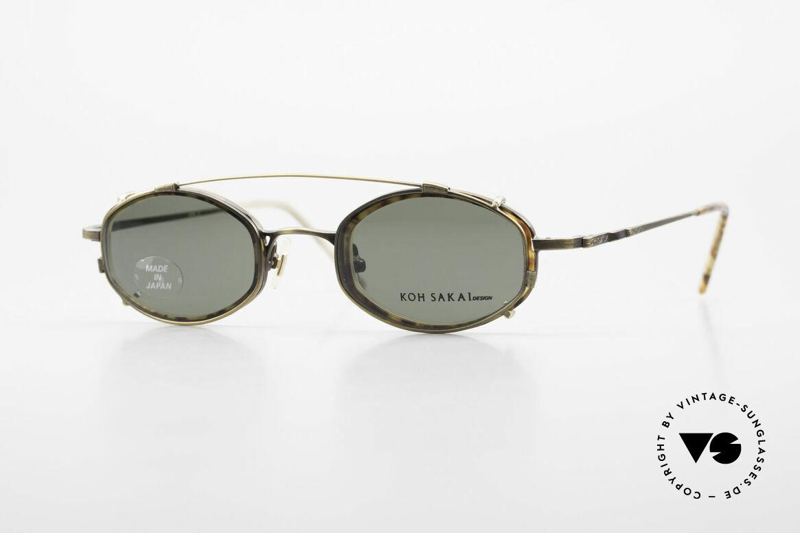 Koh Sakai KS9836 Titanium Brille mit Sonnen-Clip, vintage Titanium-Brille von Koh Sakai, Modell KS9836, Passend für Herren und Damen