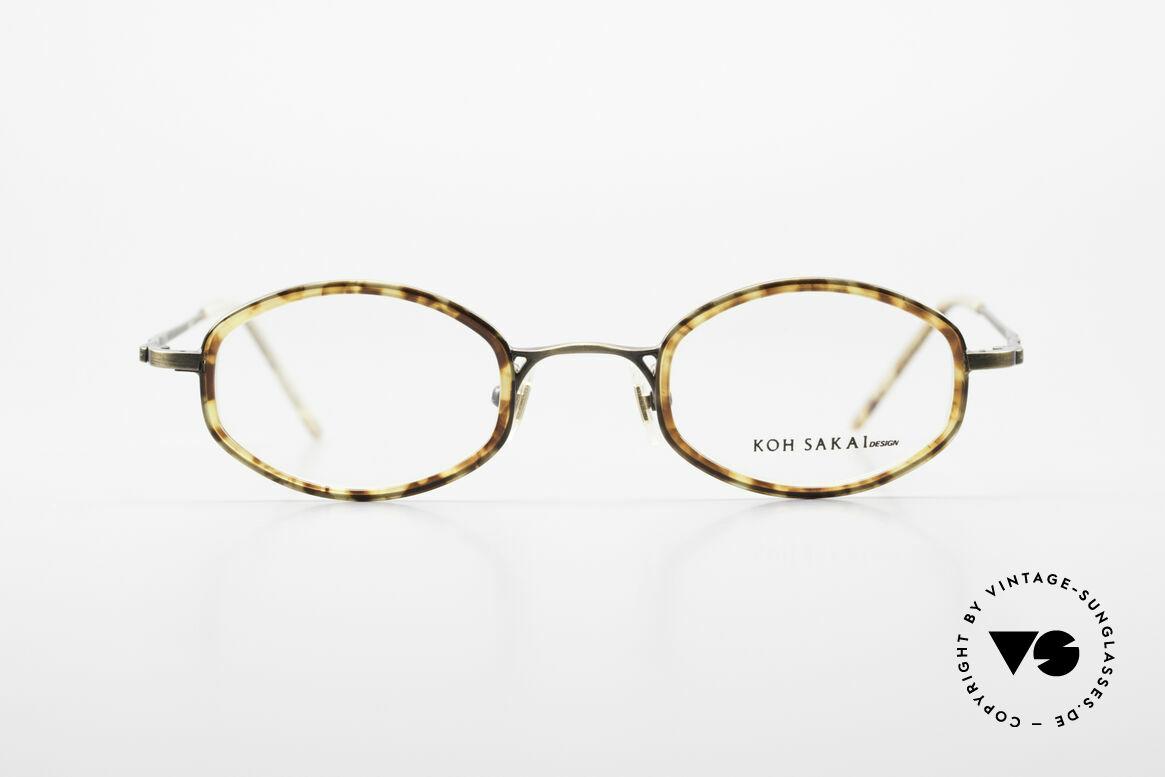 Koh Sakai KS9836 Titanium Brille mit Sonnen-Clip, Größe: medium, Passend für Herren und Damen