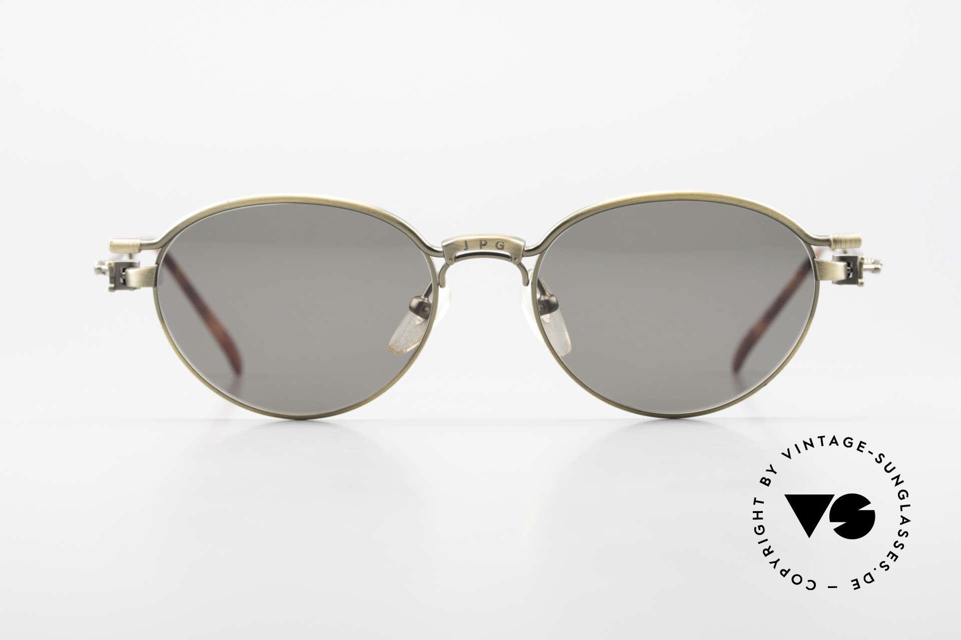 Jean Paul Gaultier 56-4172 Unisex Designerbrille 90er JPG, Designerstück mit 'JPG'-Logo auf der Brücke / Steg, Passend für Herren und Damen