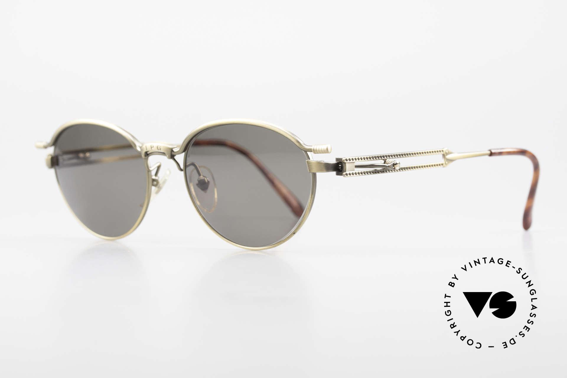 Jean Paul Gaultier 56-4172 Unisex Designerbrille 90er JPG, unbeschreibliche Spitzen-Qualität, made in JAPAN, Passend für Herren und Damen