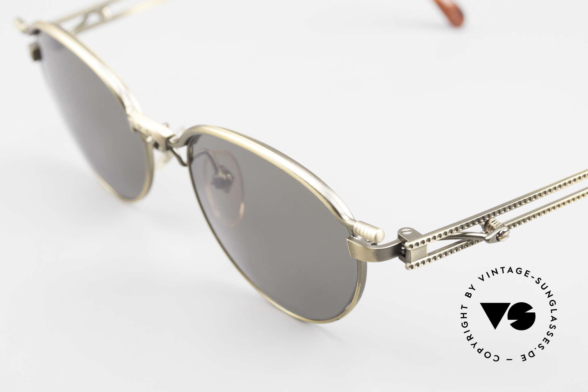 Jean Paul Gaultier 56-4172 Unisex Designerbrille 90er JPG, echte Rarität im Unisex-Design mit 'St. Tropez Flair', Passend für Herren und Damen