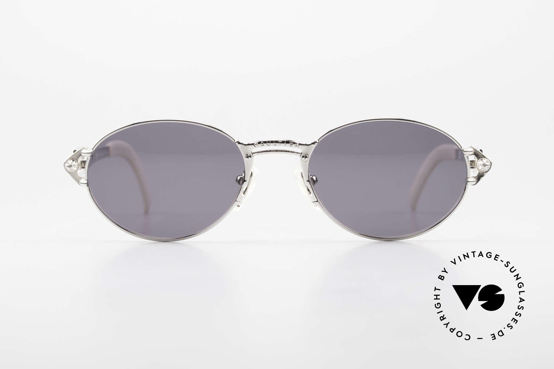 Jean Paul Gaultier 56-6101 Kult Designerbrille Industrial, Premium-Qualität wie aus einem Guss (made in Japan), Passend für Herren und Damen