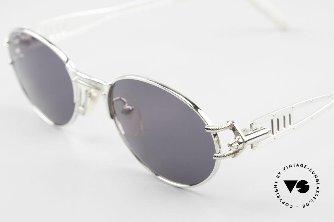 Jean Paul Gaultier 56-6101 Kult Designerbrille Industrial, dennoch einige raffinierte Details an Bügeln & Brücke, Passend für Herren und Damen