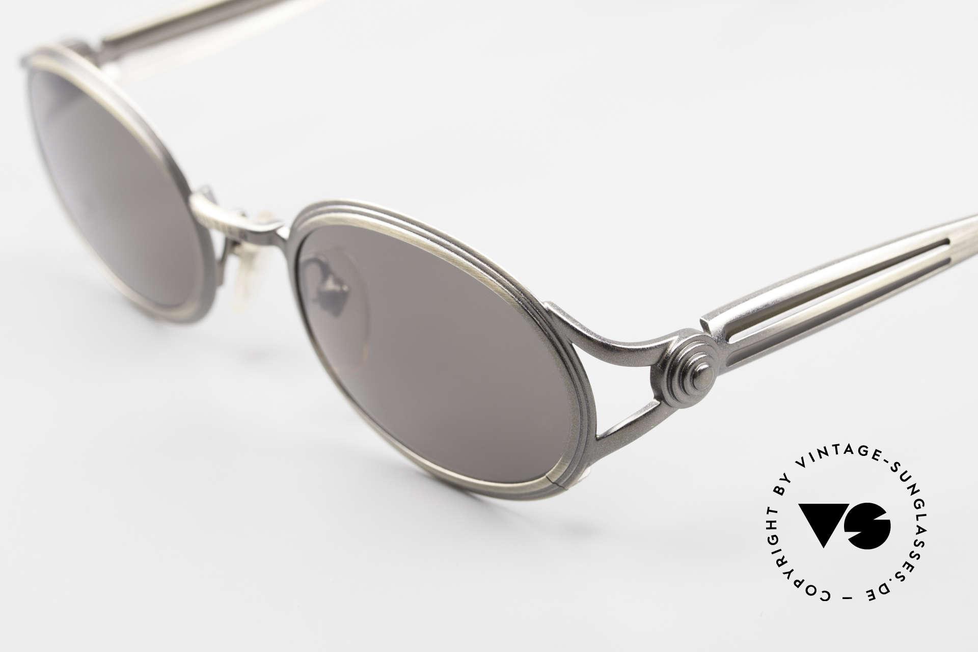 Jean Paul Gaultier 56-7114 Ovale Steampunk Sonnenbrille, herausragende Qualität (Muss man einfach fühlen!!), Passend für Herren und Damen
