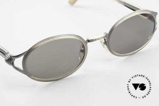 Jean Paul Gaultier 56-7114 Ovale Steampunk Sonnenbrille, orig. Sonnengläser können ggf. auch ersetzt werden, Passend für Herren und Damen