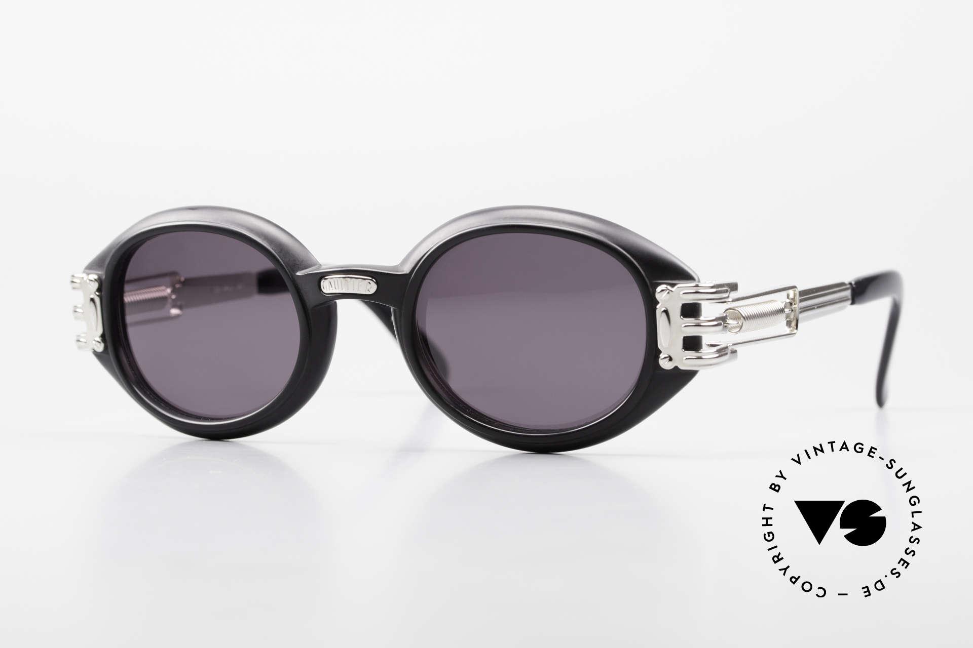 Jean Paul Gaultier 56-5203 Steampunk Sonnenbrille 90er, vintage 1990er Jean Paul Gaultier Kultsonnenbrille, Passend für Herren und Damen