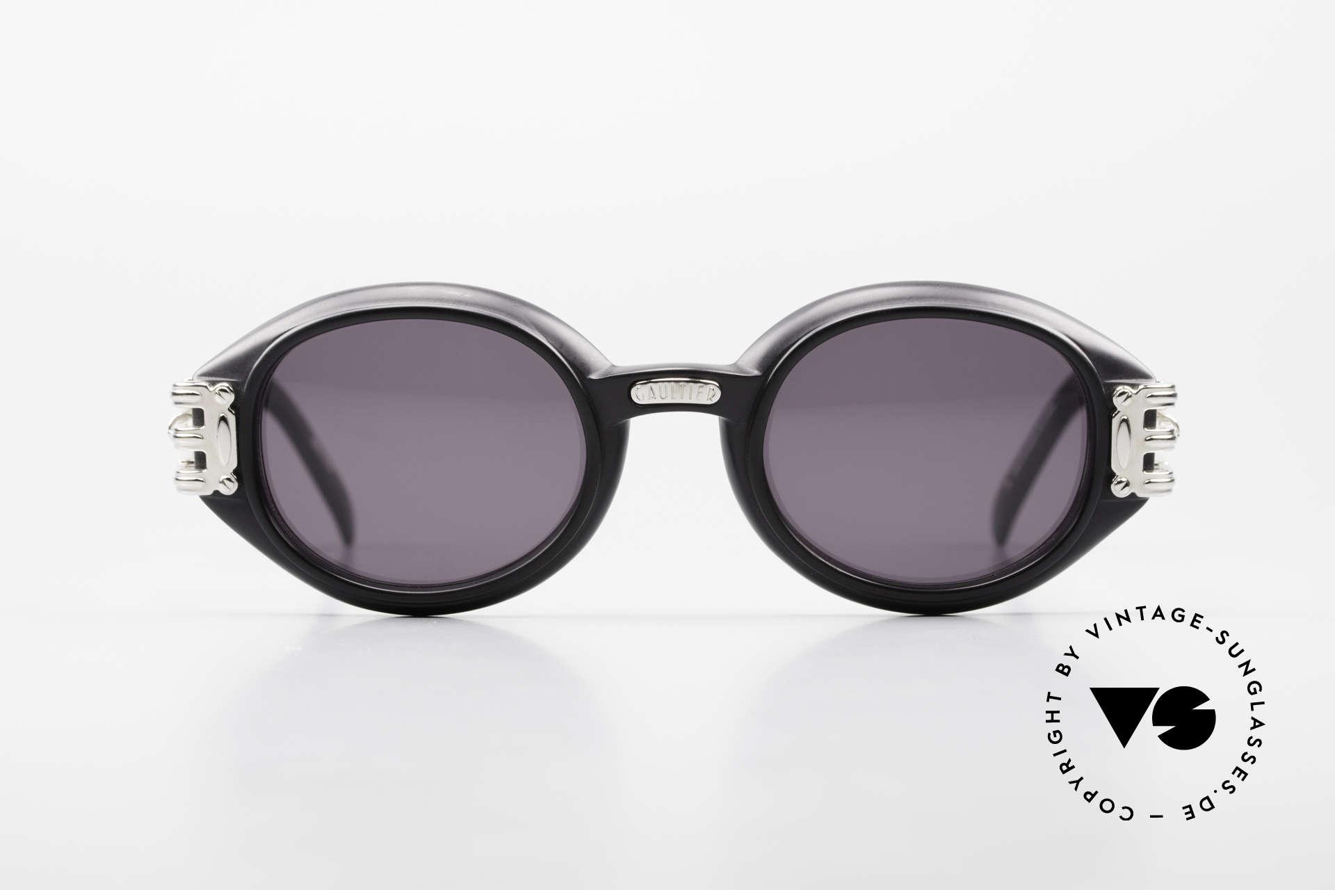 Jean Paul Gaultier 56-5203 Steampunk Sonnenbrille 90er, enorm massiver / schwerer Rahmen in Top-Qualität, Passend für Herren und Damen