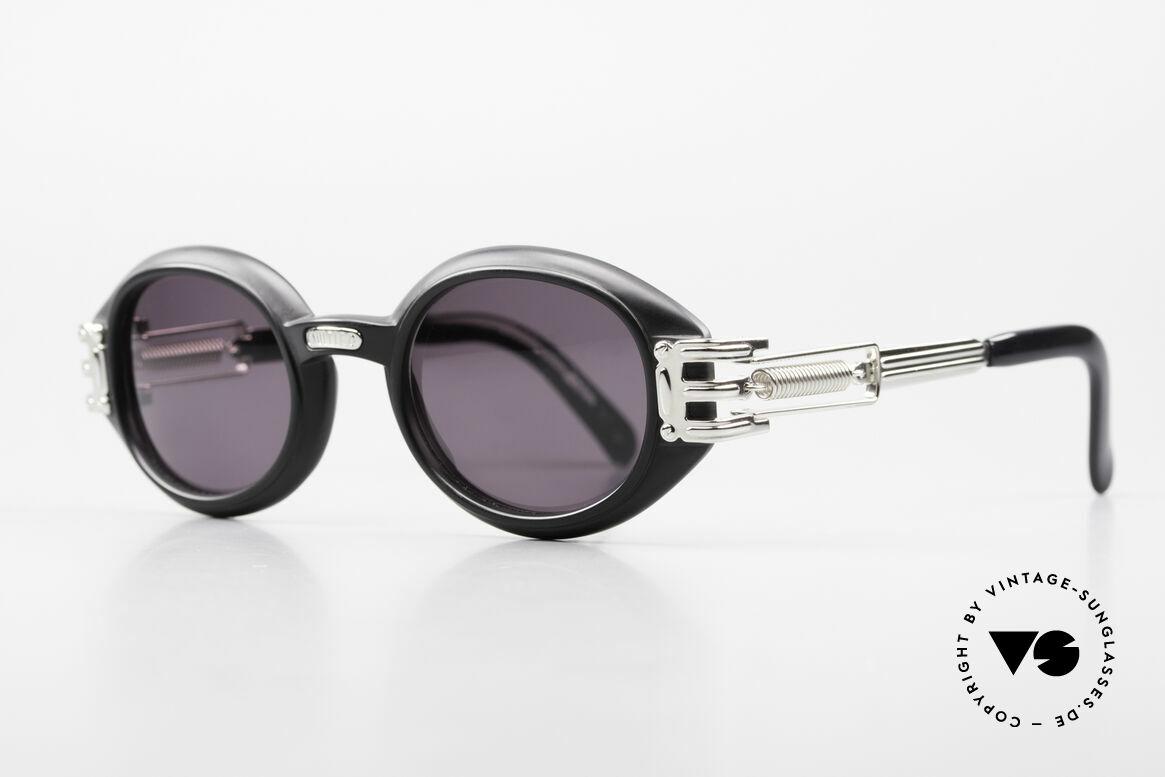 Jean Paul Gaultier 56-5203 Steampunk Sonnenbrille 90er, industrial Design häufig als 'Steampunk' bezeichnet, Passend für Herren und Damen