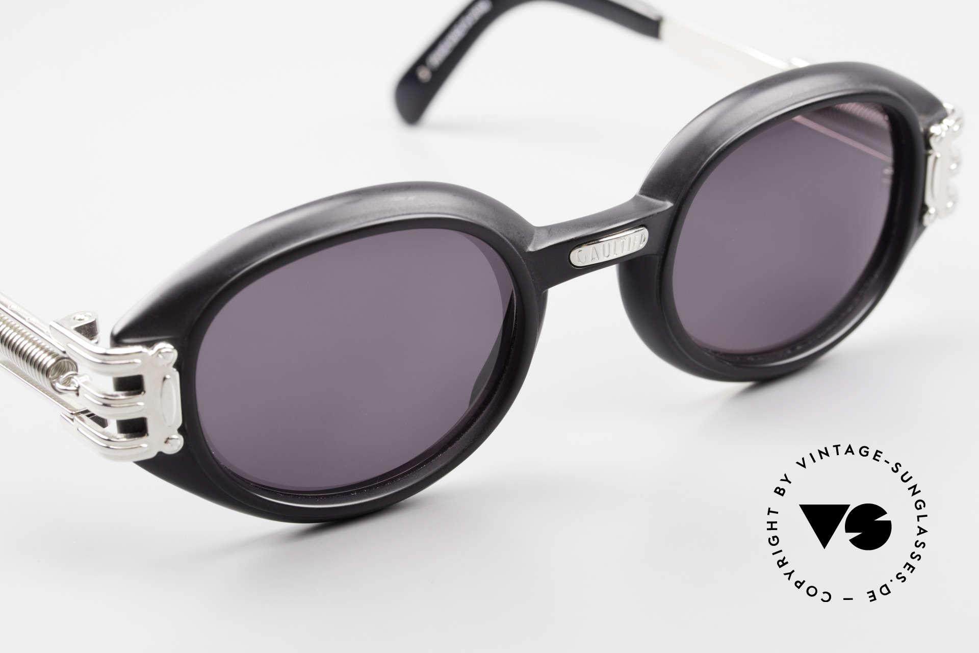 Jean Paul Gaultier 56-5203 Steampunk Sonnenbrille 90er, KEINE RETROBRILLE; ein altes Original von 1995/96, Passend für Herren und Damen