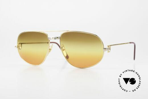 Cartier Romance Santos - XL Luxus Vintage Sonnenbrille Details